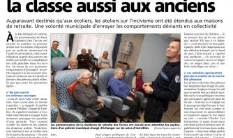 La police municipale fait la classe aussi aux anciens