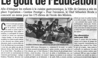 Cantines Prestige : le goût de l'éducation
