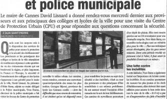 Chefs d'établissements et police municipale