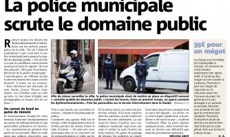 La Police municipale scrute le domaine public
