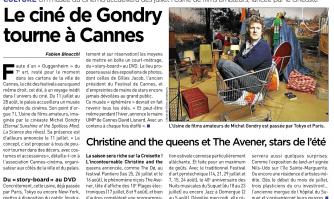 Le ciné de Gondry tourne à Cannes