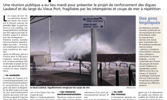 La ville bientôt protégée des coups de mer