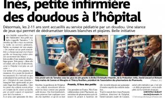 Ines, petite infirmière des doudous à l'hôpital