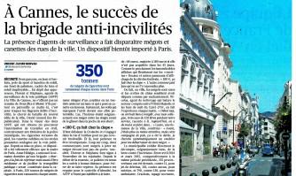 A Cannes, le succès de la brigade anti-incivilités