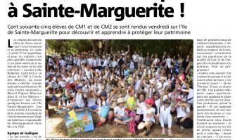 Les écoliers débarquent à Sainte-Marguerite !
