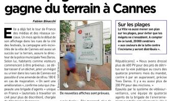 La campagne anti-incivilité gagne du terrain à Cannes
