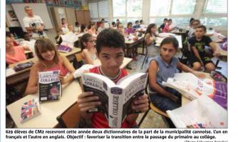 Distributions de dicos pour les écoliers cannois