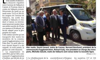 Palm Bus : la ligne 9 Cannes-Vallauris revient