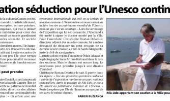 L'opération séduction pour l'Unesco continue