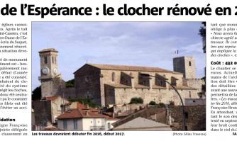 ND d'Espérance : le clocher rénové en 2017