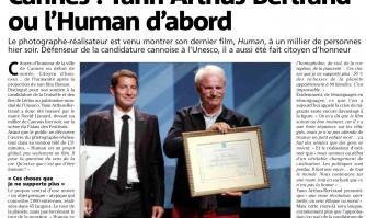 Cannes : yann Arthus-Bertrand ou l'Human d'abord