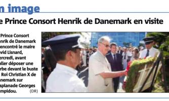 Le Prince Consort Henrik de Danemark en visite
