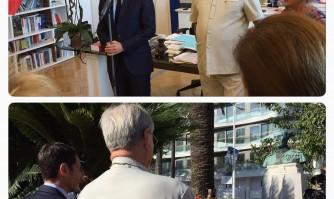 Le Prince Consort de Danemark en visite à Cannes