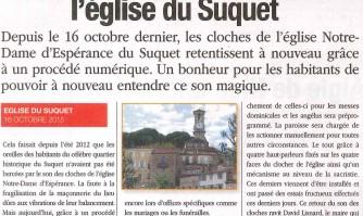 Le retour des cloches à l'église du Suquet
