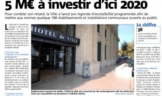 Handicap et accessibilité : 5M€ à investir d'ici 2020