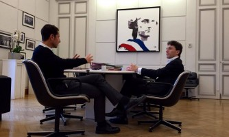 David Lisnard parle antiterrorisme avec le juge Marc Trévidic