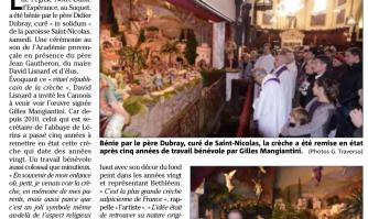 Suquet : Notre-Dame d'Espérance bénit sa crèche de Noël