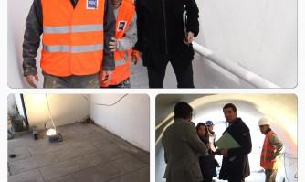 David Lisnard contrôle la rénovation du passage Pierre Sémard