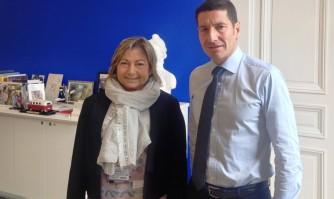 David Lisnard accueille la maire de Calais à Cannes