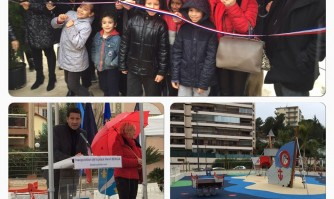David Lisnard inaugure la nouvelle place Bergia