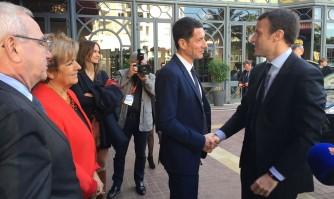 David Lisnard accueille Emmanuel Macron à Cannes