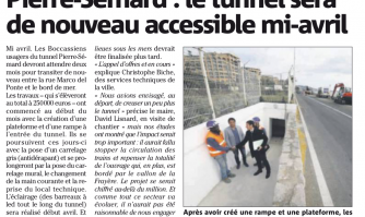 Pierre-Sémard : le tunnel sera de nouveau accessible mi-avril