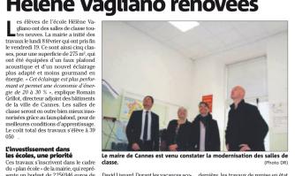 Les salles de classe de l'école Hélène Vagliano rénovées
