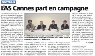 L'AS Cannes part en campagne