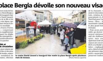 La place Bergia dévoile son nouveau visage