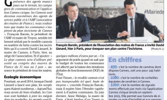 Les maires de France incités à suivre Cannes dans la lutte contre les incivilités