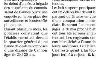 Cannes : un réseau de trafiquants démantelé