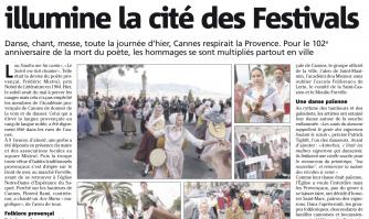 L'aura de Frédéric Mistral illumine la cité des Festivals