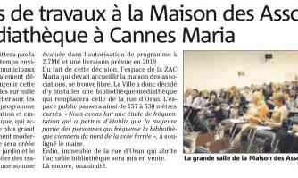 2,7 millions de travaux à la Maison des Associations et une médiathèque à Cannes Maria