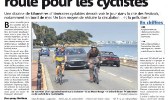 Nouvelle pistes : la ville roule pour les cyclistes