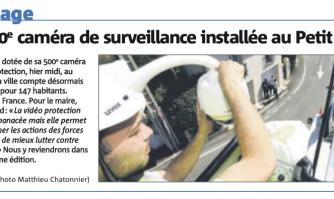 La 500e caméra de surveillance installée au Petit Juas