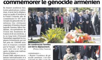 Une émouvante cérémonie pour commémorer le génocide arménien