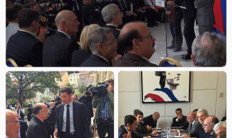 David Lisnard et Bernard Cazeneuve présentent le dispositif de sécurité du Festival à Cannes
