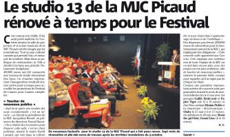 Le studio 13 de la MJC Picaud rénové à temps pour le Festival
