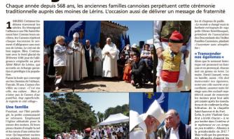 Saint-Honorat : serment d'allégeance en famille