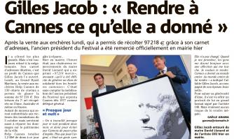 """Gilles Jacob : """"Rendre à Cannes ce qu'elle a donné"""""""