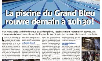 La piscine du Grand Bleu rouvre !