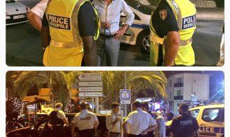 Tournée nocturne avec la Police municipale pour David Lisnard