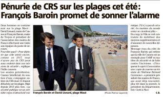 Pénurie de CRS sur les plages cet été