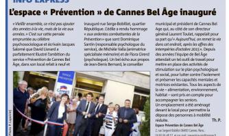 """L'espace """"Prévention"""" de Cannes Bel Âge inauguré"""