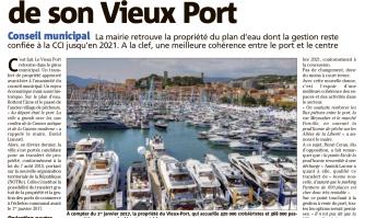 La Ville reprend la barre de son Vieux Port