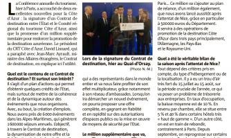 """L'Etat et la Côte d'Azur signent un """"Contrat de destination"""""""