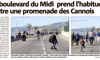 Le boulevard du Midi prend l'habitude d'être une promenade des Cannois