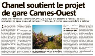 Chanel soutient le projet de gare Cannes-Ouest