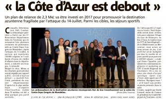 """Tourisme post-attentat : """"la Côte d'Azur est debout"""""""