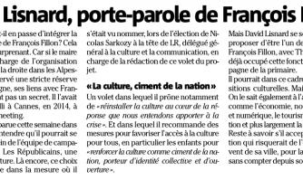David Lisnard, porte-parole de François Fillon ?